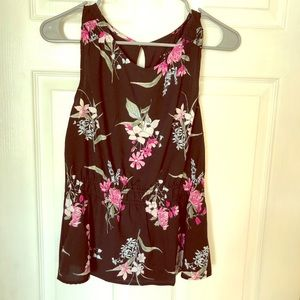 Tops - A New Day Floral Tank- Size Small NWT